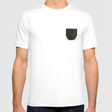 Moon Lamp Mens Fitted Tee SMALL White