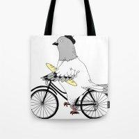 Parisian Pigeon Tote Bag