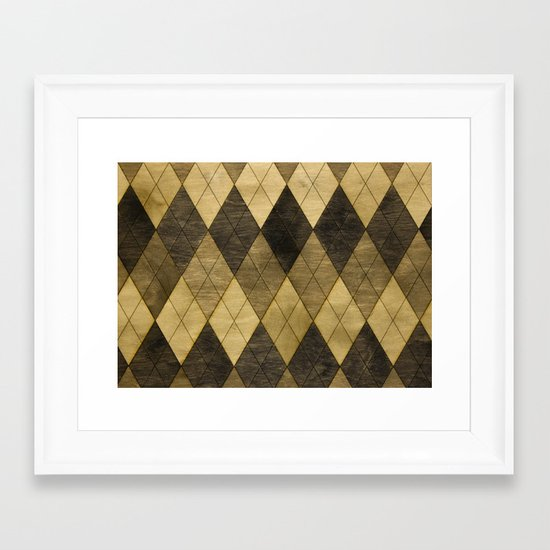 Wooden big diamond Framed Art Print