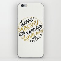 Love Above All Things iPhone & iPod Skin