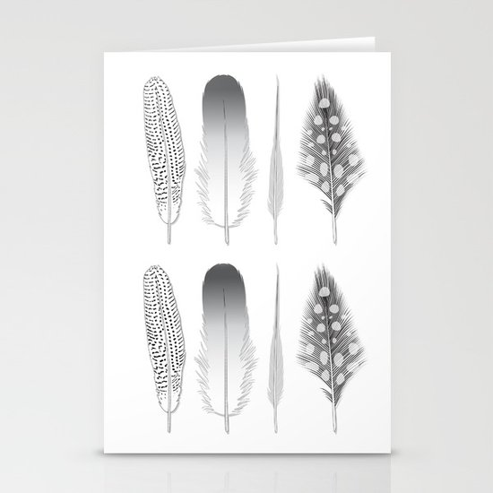 Feathers Trio Stationery Card