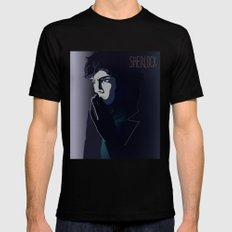 SHERLOCK SMALL Mens Fitted Tee Black