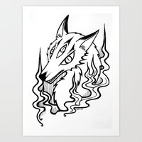 Demon Fox Art Print