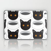 Cat Face & Bowl Laptop & iPad Skin