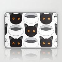 Cat Face & Bowl Laptop & iPad Skin