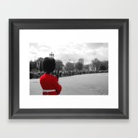 A Guard Watches The Crow… Framed Art Print