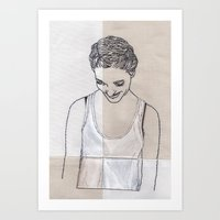 Patchwork Portrait: Kati… Art Print