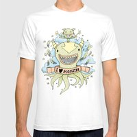 I Love Monster Mens Fitted Tee White SMALL