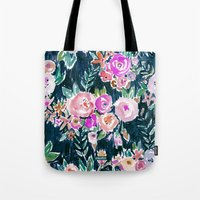 PROFUSION FLORAL - MIDNIGHT Tote Bag