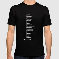 MEASURING SHIRT Mens Fitted Tee Black SMALL