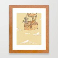 Hot Air Balloon Ride  Framed Art Print