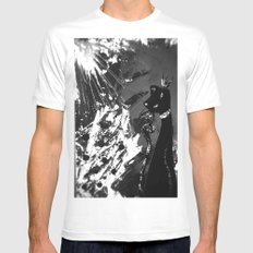 Black Cat Storm SMALL White Mens Fitted Tee