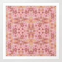 Tapestry In Pink Art Print