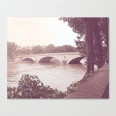 Paris, clearly moments (violet)  Canvas Print