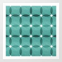 Overlapped Circle Pattern 6 Art Print