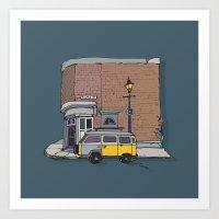 brickhouse Art Print