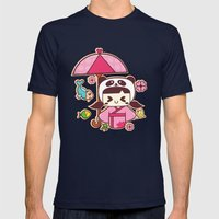 Love Begings Mens Fitted Tee Navy SMALL