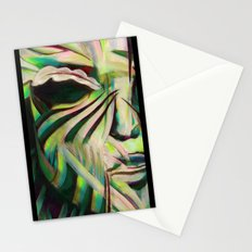 Green Face Stationery Cards