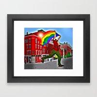 Bangor Maine PRIDE Framed Art Print