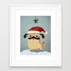 The Christmas Pug Framed Art Print