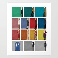 doctor Art Prints featuring Doctor Who? by The Joyful Fox