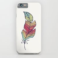 feather iPhone & iPod Cases featuring Feather by Juste Pixx Designs