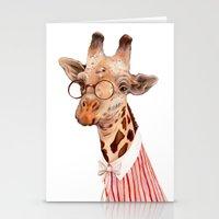 giraffe Stationery Cards featuring Giraffe by Animal Crew
