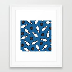 Bowling For Pins Pattern Framed Art Print