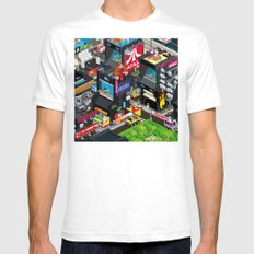 GAMECITY Mens Fitted Tee White SMALL