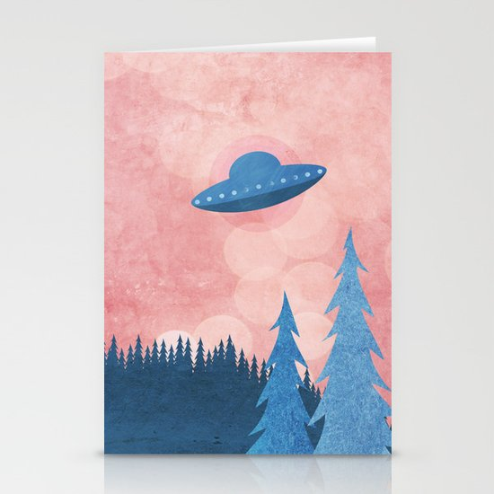 Unidentified Flying Object Stationery Card