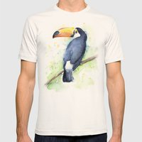 Toucan Mens Fitted Tee Natural SMALL