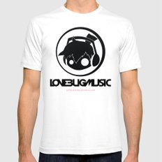 Love Bug Music Logo  White SMALL Mens Fitted Tee