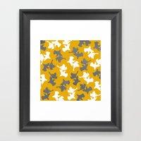 Goldfish Pattern Framed Art Print