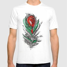 Flower Lover SMALL White Mens Fitted Tee