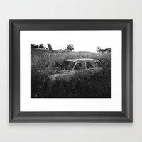 Nature Reclaiming A Vw S… Framed Art Print