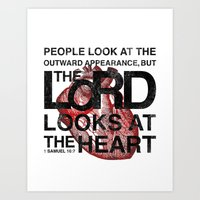 God Looks At The Heart Art Print