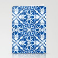 Dotted Tile: Vibrant Blu… Stationery Cards
