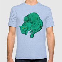 Cat Friends Mens Fitted Tee Tri-Blue SMALL