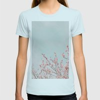 Waving In The Sky Womens Fitted Tee Light Blue SMALL