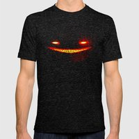 Smile (Red) Mens Fitted Tee Tri-Black SMALL