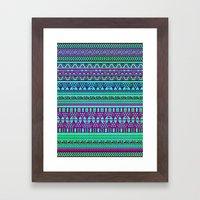 Inspired Aztec Pattern 4 Framed Art Print