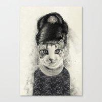Audrey Cat Canvas Print