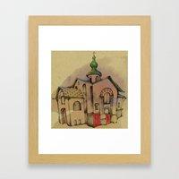 Russian church Framed Art Print