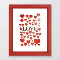 Love Heart Valentines Design  Framed Art Print