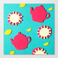 Turquois Tea Canvas Print
