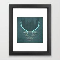 minimalistic deer Framed Art Print