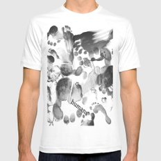 Humans  SMALL White Mens Fitted Tee