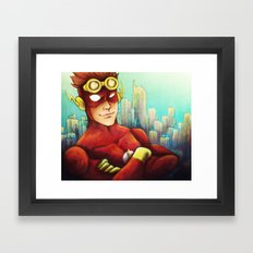 Wally West Framed Art Print