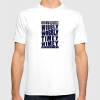 Talk Whovian To Me (alte… Mens Fitted Tee White SMALL