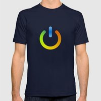 Power Color Mens Fitted Tee Navy SMALL